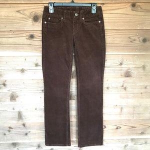J. Crew Brown Favorite Fit Corduroy Pants24S